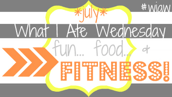 WIAW fun food fitness july button